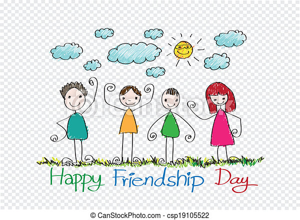 永久に, 友情, 考え, デザイン, 友人, 日, 最も良く, 幸せ - csp19105522