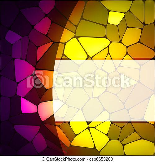 汚された, eps, ガラス, デザイン, 8, template. - csp6653200
