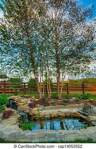 池, 庭 - csp14053552