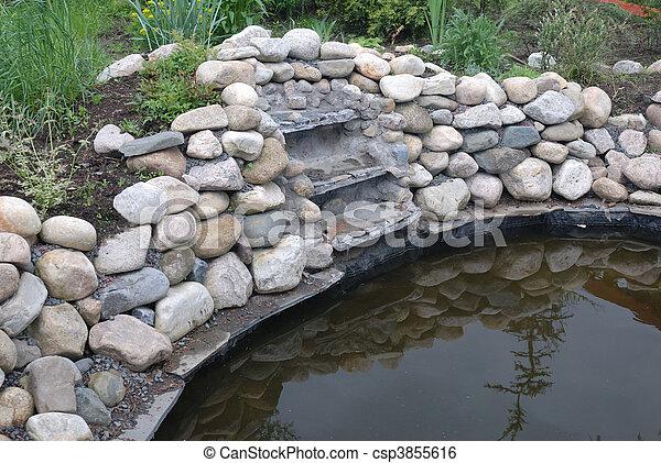 池, 庭 - csp3855616