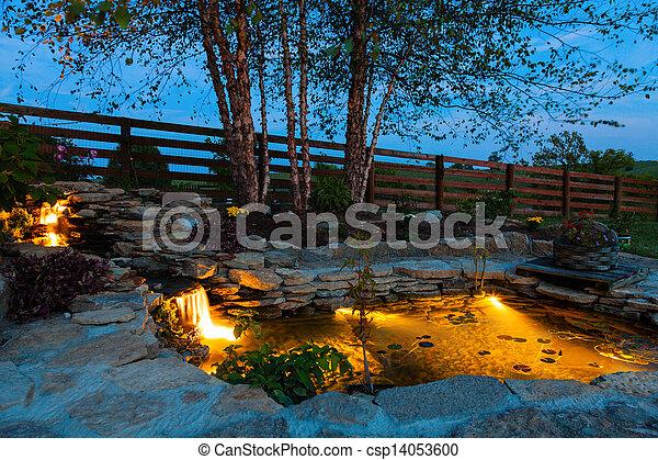 池, 庭 - csp14053600