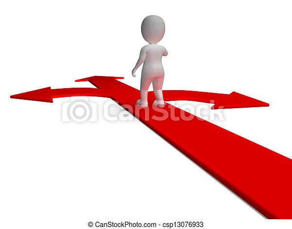 決定, 選択肢, 提示, 矢, 選択, ∥あるいは∥, chosing - csp13076933