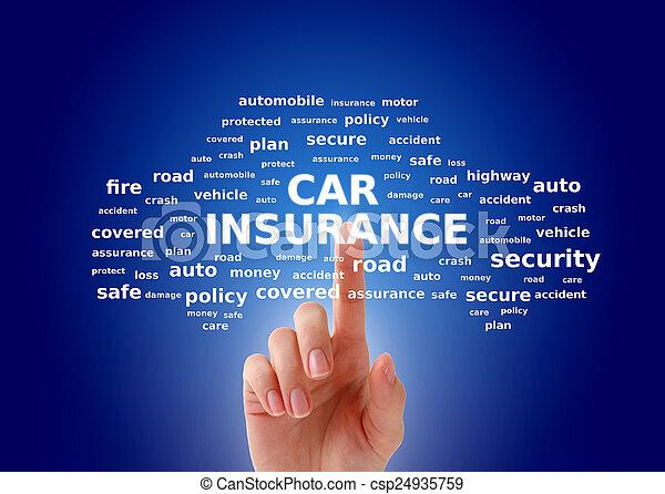 汽車保險 - csp24935759