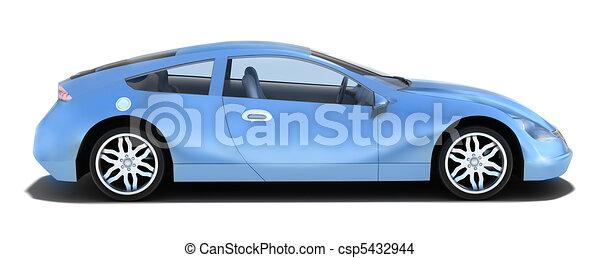 汽車, -, 左, 運動, 側視圖 - csp5432944