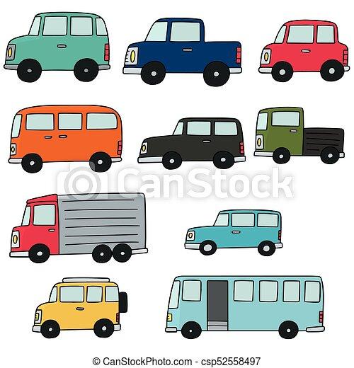汽車, 矢量, 集合 - csp52558497