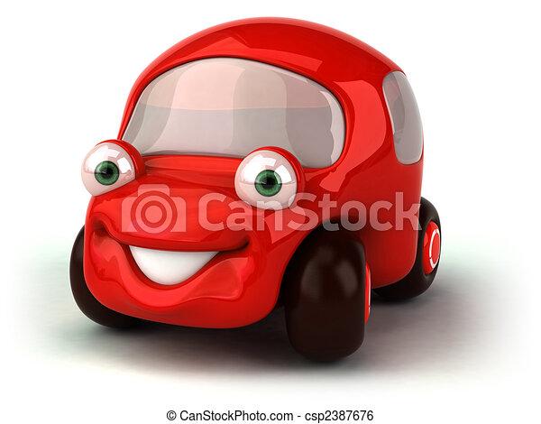 汽車, 紅色 - csp2387676