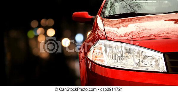 汽車, 紅色 - csp0914721