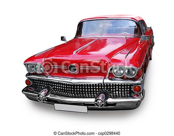汽車, 美國人, -, retro - csp0298440