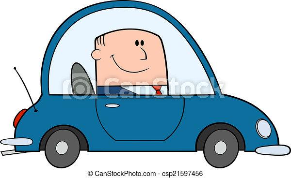 汽車, 開車, 商人 - csp21597456