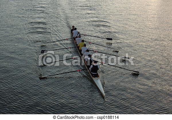 河, 划船者 - csp0188114