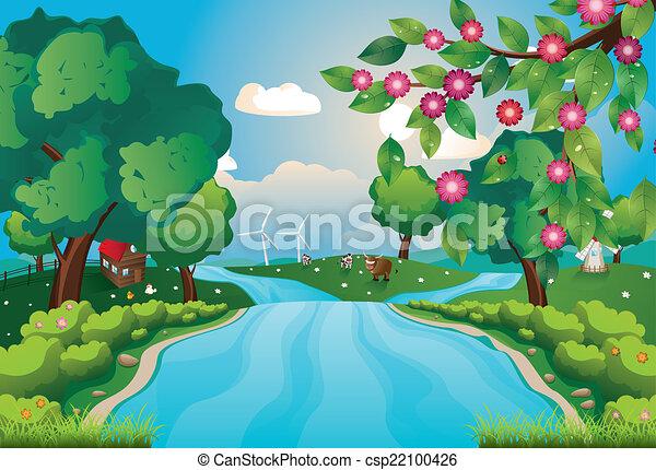 河, 小山 - csp22100426