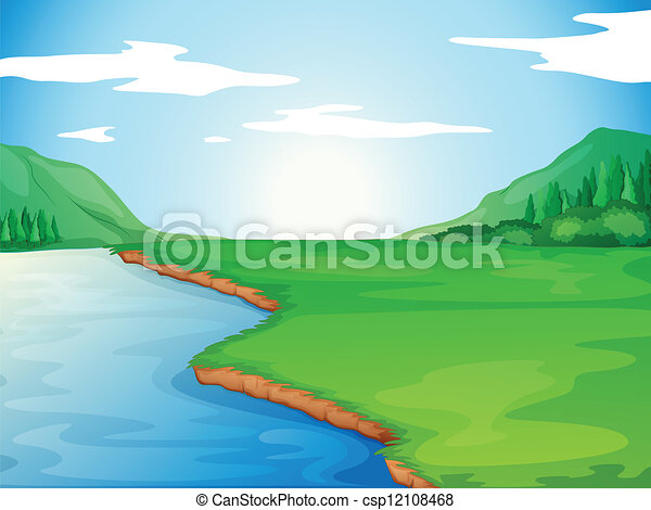 河 - csp12108468