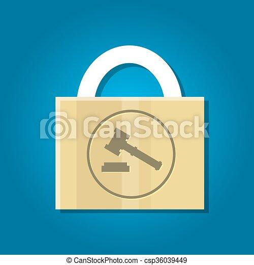 法律の特許を取りなさい, 保護 - csp36039449