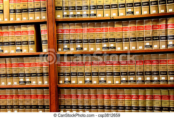 法律書, 図書館 - csp3812659