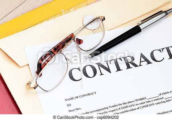 法律的合同, 报纸, 法律 - csp6094202