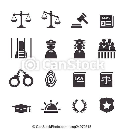 法律, アイコン - csp24979318