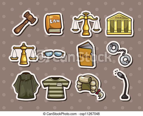 法律, ステッカー - csp11267048