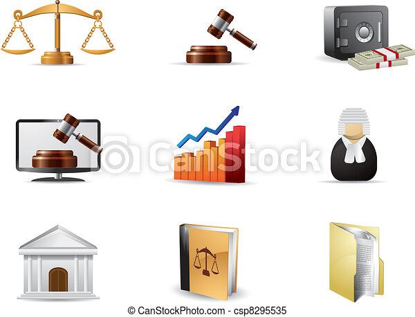法律, セット, アイコン - csp8295535