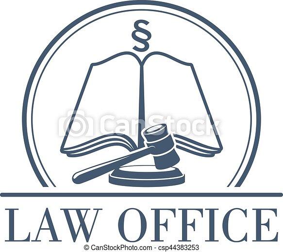 法的, オフィス, ベクトル, コード, 小槌, 法律, アイコン - csp44383253