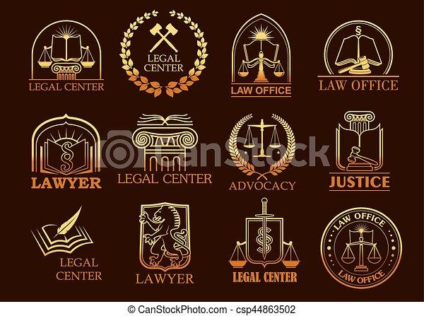 法的, 金, 弁護士, ベクトル, ∥あるいは∥, アイコン, 中心, 司法上 - csp44863502