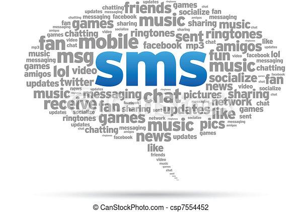 泡, スピーチ, -, sms - csp7554452