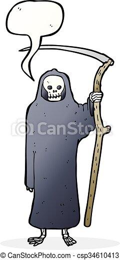 泡, 死, スピーチ, 漫画 - csp34610413