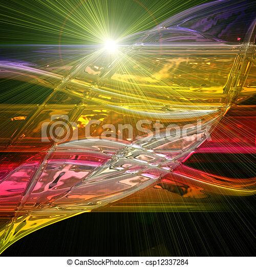 波, ライト, デザイン, 背景, 技術, 未来派 - csp12337284