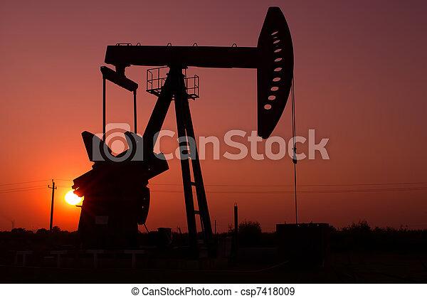 泵, 黑色半面畫像, 千斤頂 - csp7418009