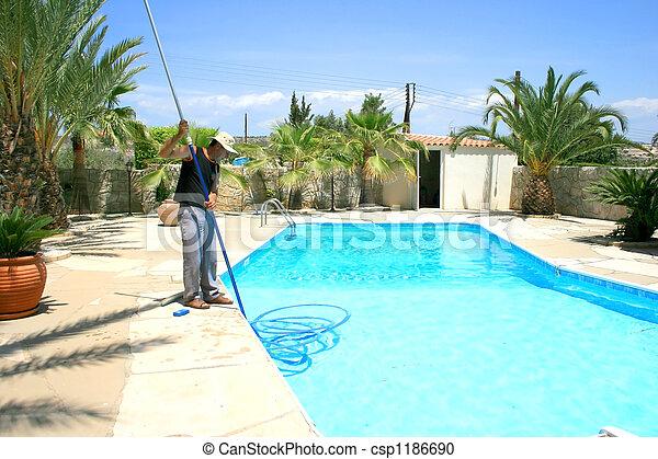 洗剤, プール, 水泳 - csp1186690