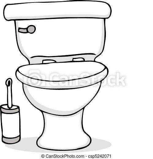 洗手间, 清扫刷子 - csp5242071