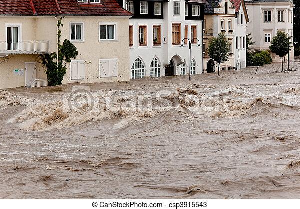 洪水, オーストリア, 氾濫, steyr - csp3915543