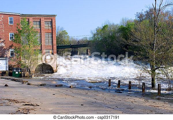 洪水, 損害 - csp0317191