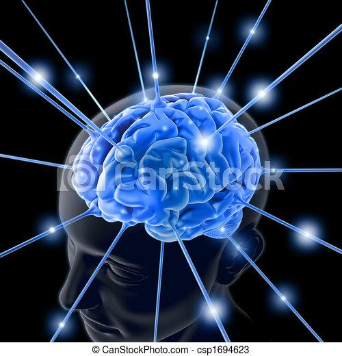 活気づけられる, 脳 - csp1694623
