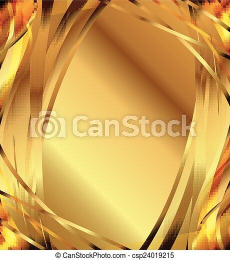流行, 抽象的, 金, バックグラウンド。 - csp24019215