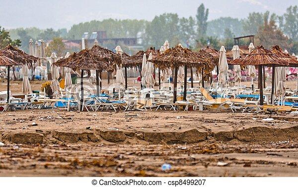 浜, 汚い, 雨, 汚される - csp8499207