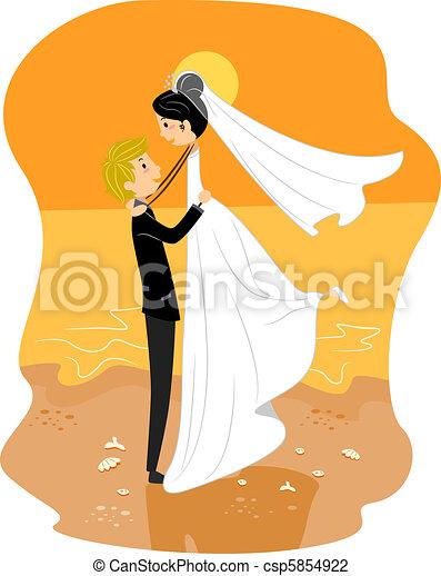 浜 結婚式 - csp5854922