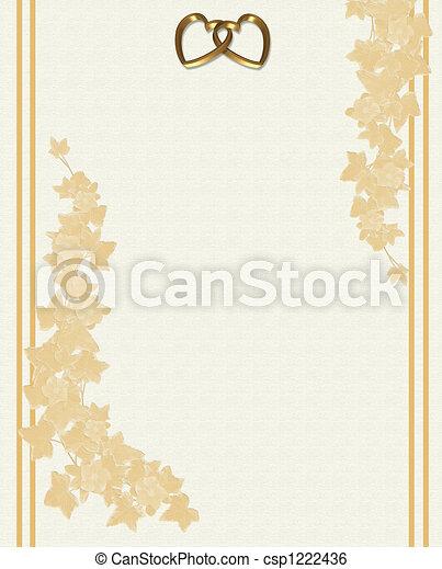 浮き彫りにされた, 招待, 結婚式, 花 - csp1222436