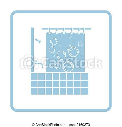 浴室, ホテル, アイコン - csp42160273