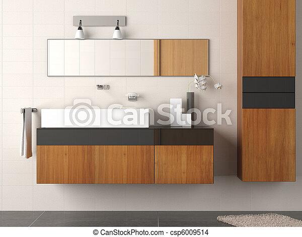 浴室, 現代, 細部 - csp6009514
