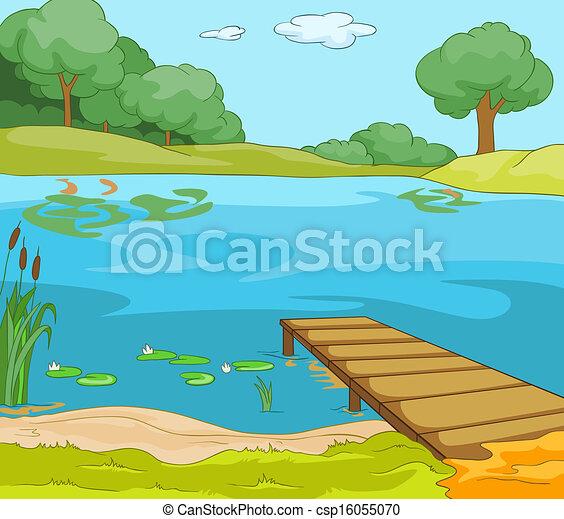 海岸, 湖 - csp16055070