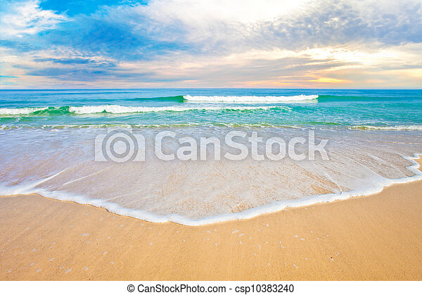 海洋, トロピカル, 日没 浜, ∥あるいは∥, 日の出 - csp10383240