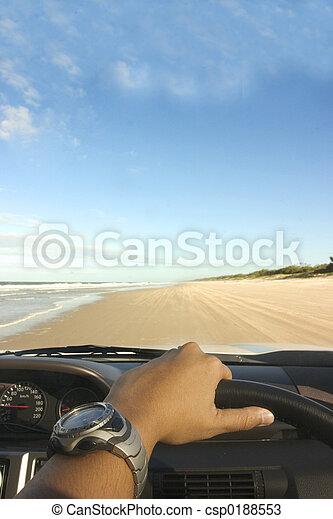 海灘, 開車 - csp0188553