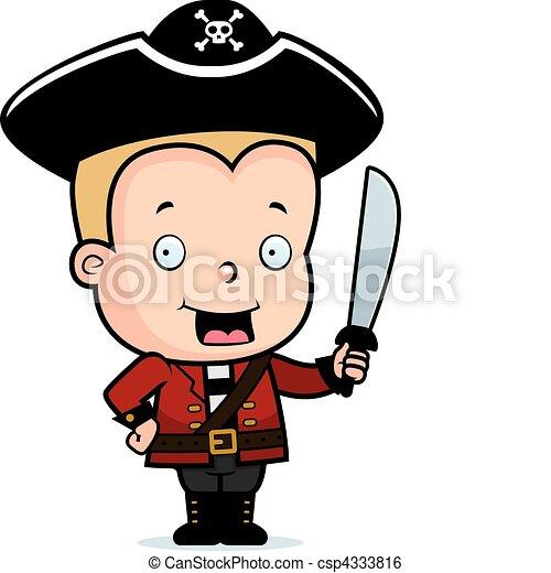 海賊, 子供 - csp4333816