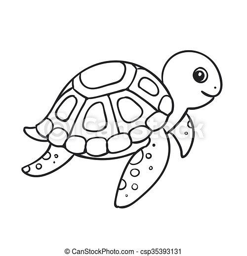 可爱海龟简笔画