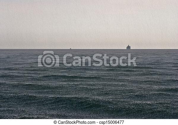 海, 雨 - csp15006477