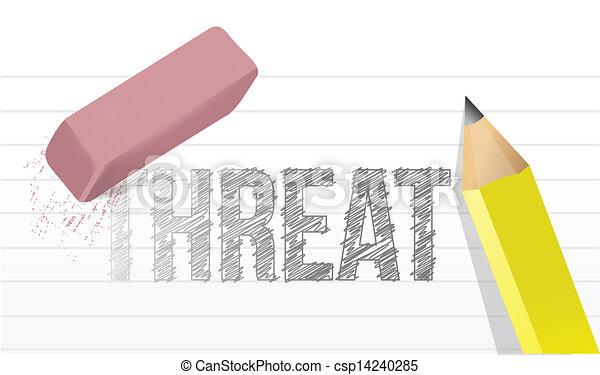 消去, 概念, 脅威, イラスト - csp14240285