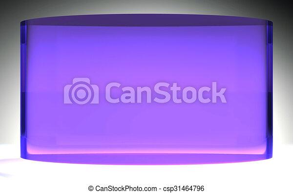 液体, 紫色, 水晶, ディスプレイ, 未来派, パネル - csp31464796