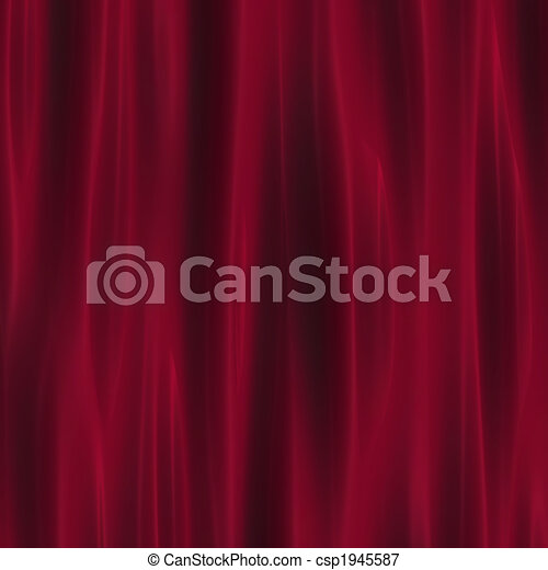 深紅色, カーテン, ひだのある布, 劇場 - csp1945587