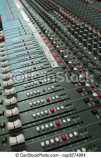 混合, オーディオ, コンソール, 板 - csp3274984