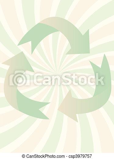 渦巻, シンボル, リサイクル, illus, ベクトル - csp3979757